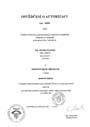 Osvědčení o autorizaci - pozemní stavby