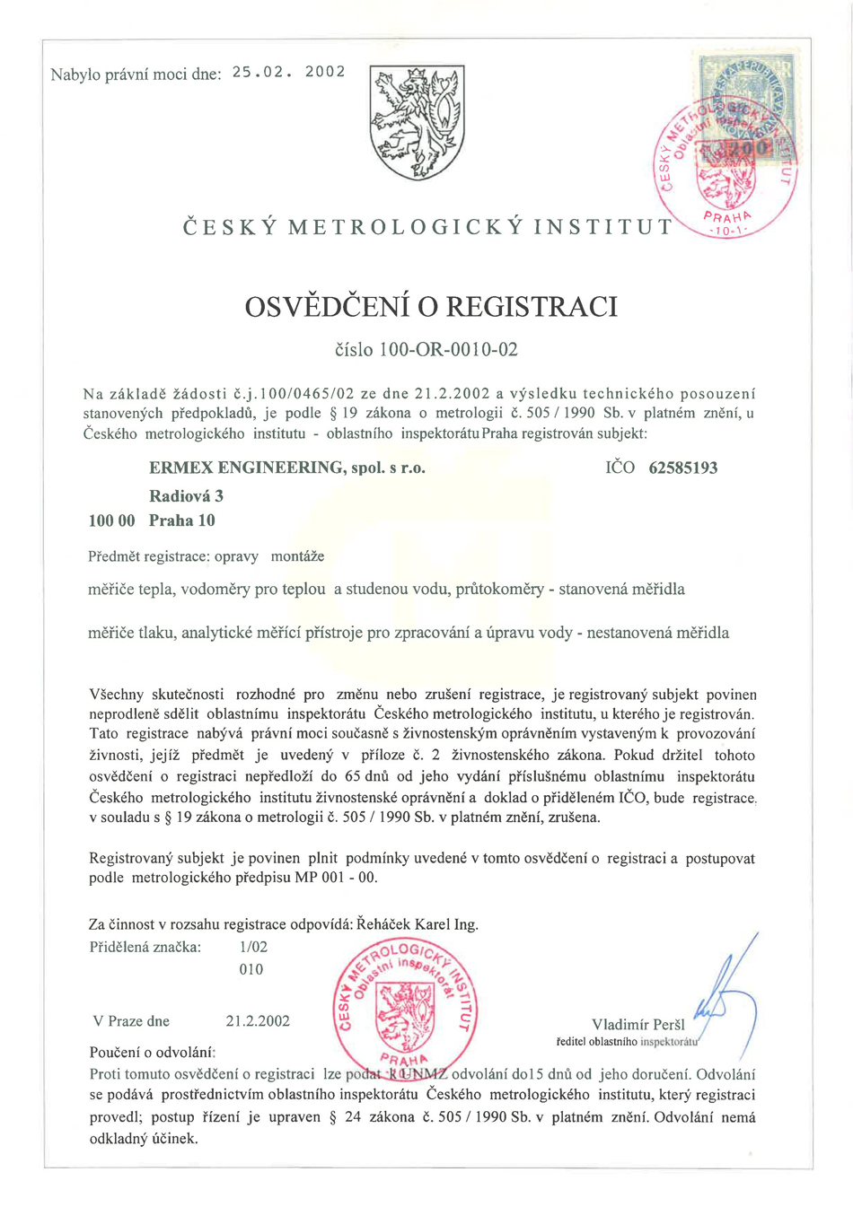 Certifikát ATJ